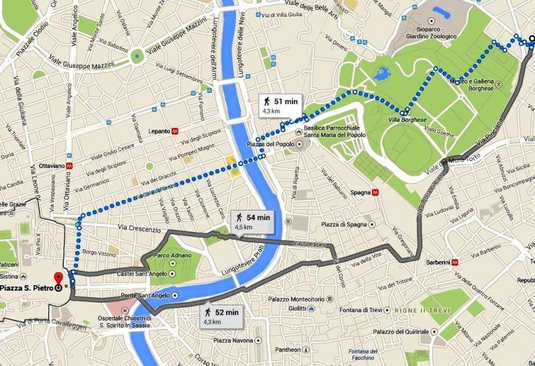 Карта как дойти пешком до